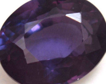 Color Change 8.00 Ct Natural Purple Sapphire AGSL Certified Oval Cut AAA+ Gem