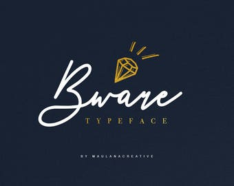 Bware Typeface Handmade Font
