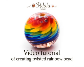 Lampwork bead tutorial video