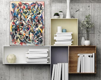 Abstract Art Original Modern Painting Oil on Board Wall Art Decor Contemporary Painting Abstract Expressionist Expressive Energy