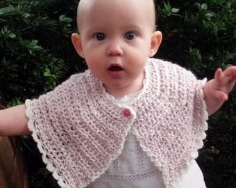 Download Now - CROCHET PATTERN Fairytale Capelet - Baby and Toddler - Pattern PDF
