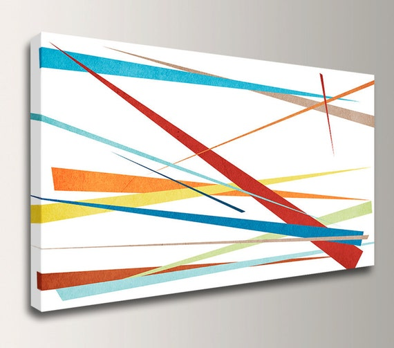 "Modern Canvas Art - Colorful Wall Decor - Abstract Canvas Art - "" Slivers """