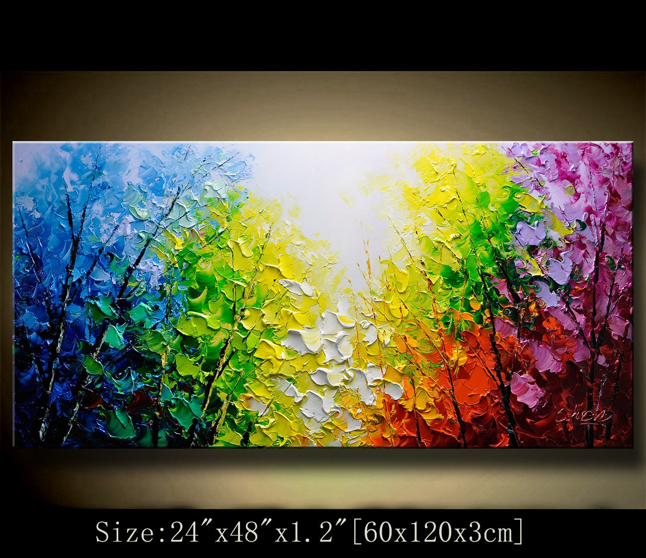 Acrylic Textured Painting ON Canvascontemporary wall art