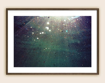 """Underwater Photography Print - Sea Photography - Ocean Photography - """"Light Particles"""""""