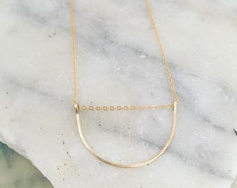 Boho necklace, Dainty gold necklace, Delicate necklace, Gold necklace, Minimalist necklace, Necklace, Dainty gold necklace, everyday jewelry