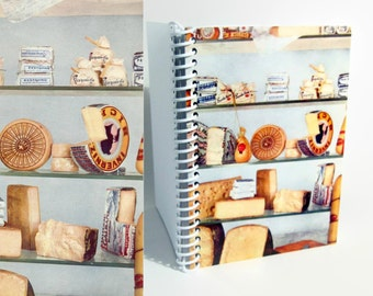 Italian Cheeses Notebook A6 Spiral Bound
