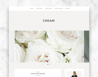 "wordpress theme template ""CREAM"" - responsive premade blog template - modern wordpress theme"