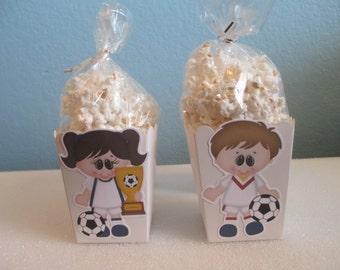 Soccer Popcorn Boxes(20)Soccer Favor Boxes,Soccer Party,Kids party favors,Soccer Treats,Soccer Birthday,Soccer Party Favors,Popcorn Boxes