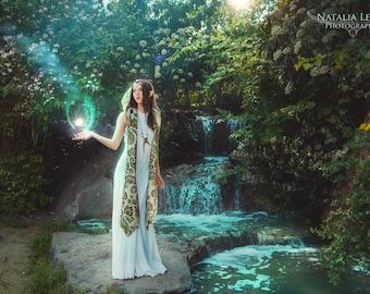 Long White Dress ~ Haunted Hawtin Dress ~ Made To Measure ~ Handfasting ~ Medieval ~ Halloween ~ Pagan ~ Wedding Dress ~ Technodolly