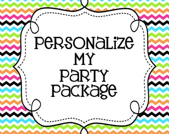 Personalize My Party Package
