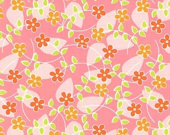 Floating Blossom in Pink: Quiet Time by Tamara Kate - 1 Yard Cut