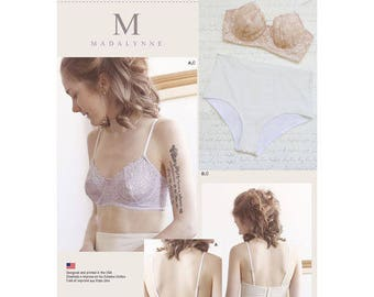 Simplicity 8229 Misses' Underwire Bras and Panties, New and Uncut