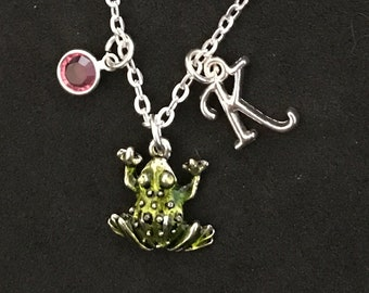 Personalized Frog Necklace Frog Jewelry