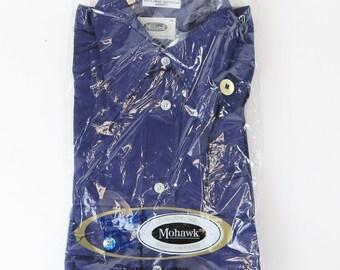 Vtg 1970's Mohawk 100% Quinella knit Dress Shirt - Sz Med - Rockabilly NOS