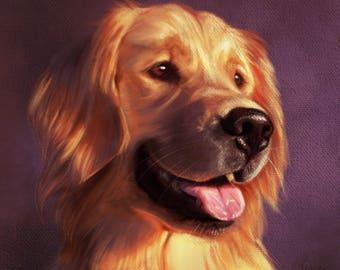 Custom Pet Portrait, Digital Pet Portrait, Dog Painting, Memorial Heirlooms, Wedding Gift