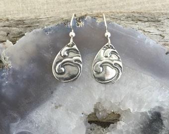 Wave Fine Silver Earrings