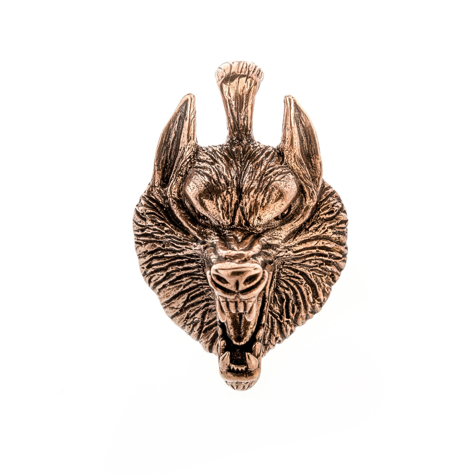 head free overstock jewelry com orders silver on howling watches handmade thailand shipping pendant over sterling product wolf wild