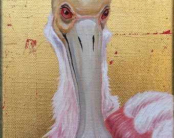 Intrigued Spoonbill