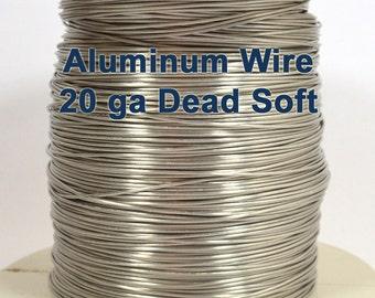 20ga Aluminum Wire - Dead Soft - Choose Your Length