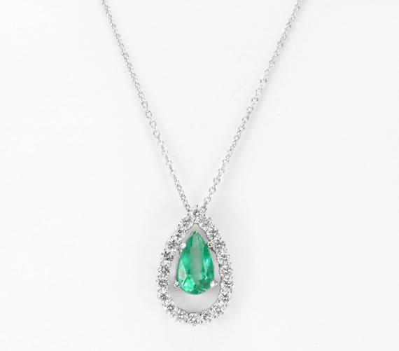14k emerald pendant gold emerald pendant emerald diamond like this item aloadofball Images