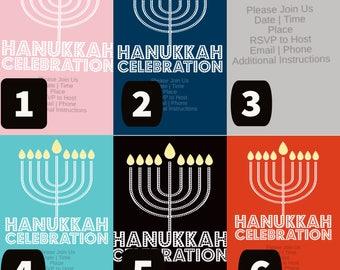 Hanukkah celebration invitations