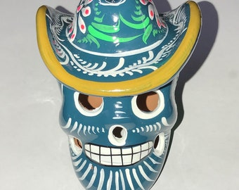 Sugar Skull ~ Hand Crafted and Painted Sugar Skull from Mexico