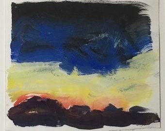 TAOS SUNSET by Sandra Holzman