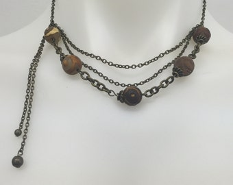 CA Clay Beaded Statement Necklace
