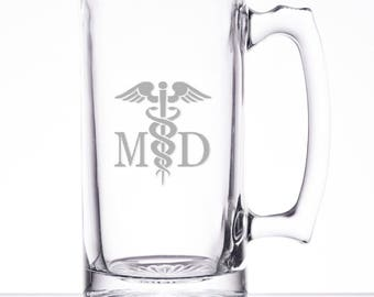 """25 Ounce """"Medical Doctor"""" Personalized Beer Mug"""