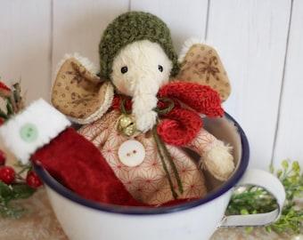 ooak viscose elephant Christmas