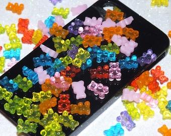 BULK BUY! 20pcs Mixed Glass Jelly Sweets Gummi Bears Haribo DIY Flatback Kit Tiny size 10mm