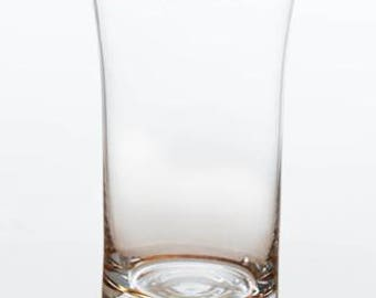 Clear Glass Tumbler with Gold Trim (Set of 4)