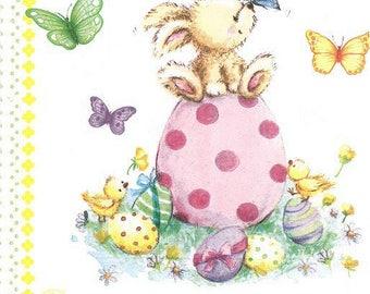2 (323) Easter Bunny paper napkins