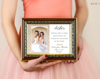 Maid Of Honor Gift, Today My Maid Of Honor Forever My Best Friend Picture Frame, Personalized Maid Of Honor Picture Frame