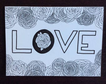 Love - optional coloring card