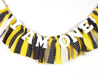 Bumble Bee Highchair Banner Birthday - Steeler's - Batman - Boy's Party - Girls First Birthday - Garland - Photoshoot Prop