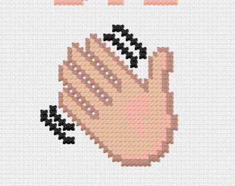 PDF Bye Felicia Cross Stitch Downloadable Digital Pattern