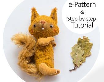 Teddy Squirrel 13cm - Step-by-step Tutorial with e-Pattern PDF