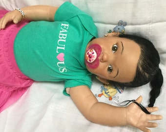 Adorable CUSTOM AA African American Biracial Ethnic Reborn Toddler Baby