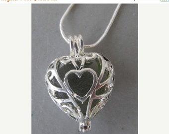 Mothers Day Sale Sea Glass Heart Jewelry, Heart Pendant, Beach Glass Locket Necklace, Sea Glass Locket, Beach Glass Jewelry Pendant, Heart N