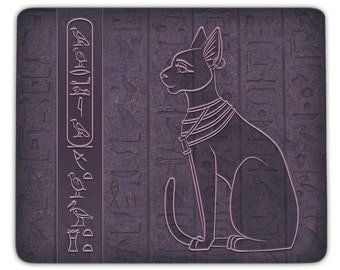 Mousepad Bastet - personalized with your name in hieroglyphs
