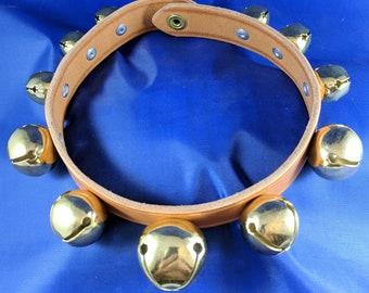 Small Tan Sleigh Bell Collar