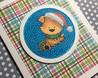 Happy Pawlidays - Christmas card made with My Favorite Things Stamps