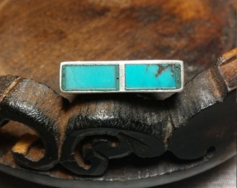 Sterling Silver Flush Mount Turquoise Ring