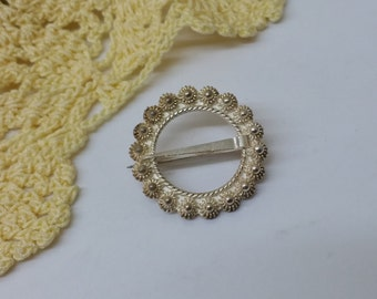 Antique costume jewelry brooch 830 silver SB257