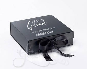 Groom Box, Groom Gift Box, For My Groom On Our Wedding Day, Husband Gift, Wedding Gift Box
