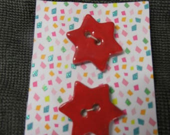 Pair Red Star buttons