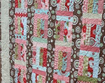 "Cupid Shuffle 2-1/2"" Strip Pattern -  Multiple Sizes -  Crib, Lap, Full - Printed Pattern"