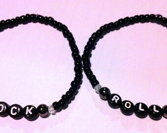 ROCK AND ROLL Beaded Friendship Bracelets