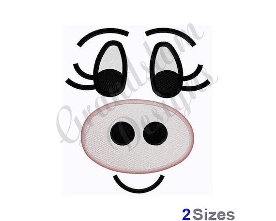Pig Doll Face Machine Embroidery Design
